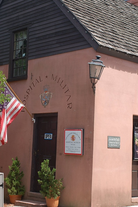 The Spanish Military Hospital Museum building is a reconstruction of a Military Hospital that stood on this site during the Second Spanish Colonial Period, 1784-1821.