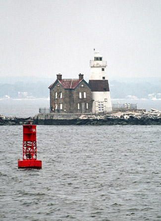 Built in 1809, Sands Point Light is situated close to Execution Rocks, but proved ineffective at warning mariners of the danger in heavy fog or stormy weather.