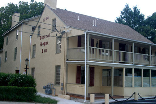 The General Wayne Inn building was built on land purchased by William Penn. Originally called The Wayside Inn, this building has been continuously used since 1704.