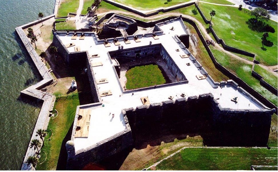 Castillo de San Marcos, the oldest fort in the United States, was constructed between 1672 and 1695 by the Spanish living on Matanzas Inlet for the protection of the northern most outpost of the empire, Saint Augustine.