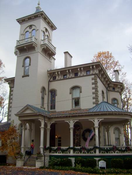 Promont House in Milford, Ohio, has been listed on the National Register of Historic Places since 1980. It is an Italianate Victorian structure, built in 1865 by William Megrue, and purchased in 1879 by John Pattison, who became the 43rd governor of Ohio.