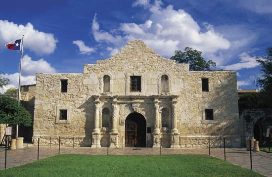 The viceroy of Mexico authorized a mission in 1716, but it was not until 1744 that the first stones of the present Alamo were laid.