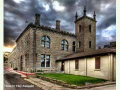 This is the Idaho's old state prison. It opened in 1870 and was closed on December 3, 1973.