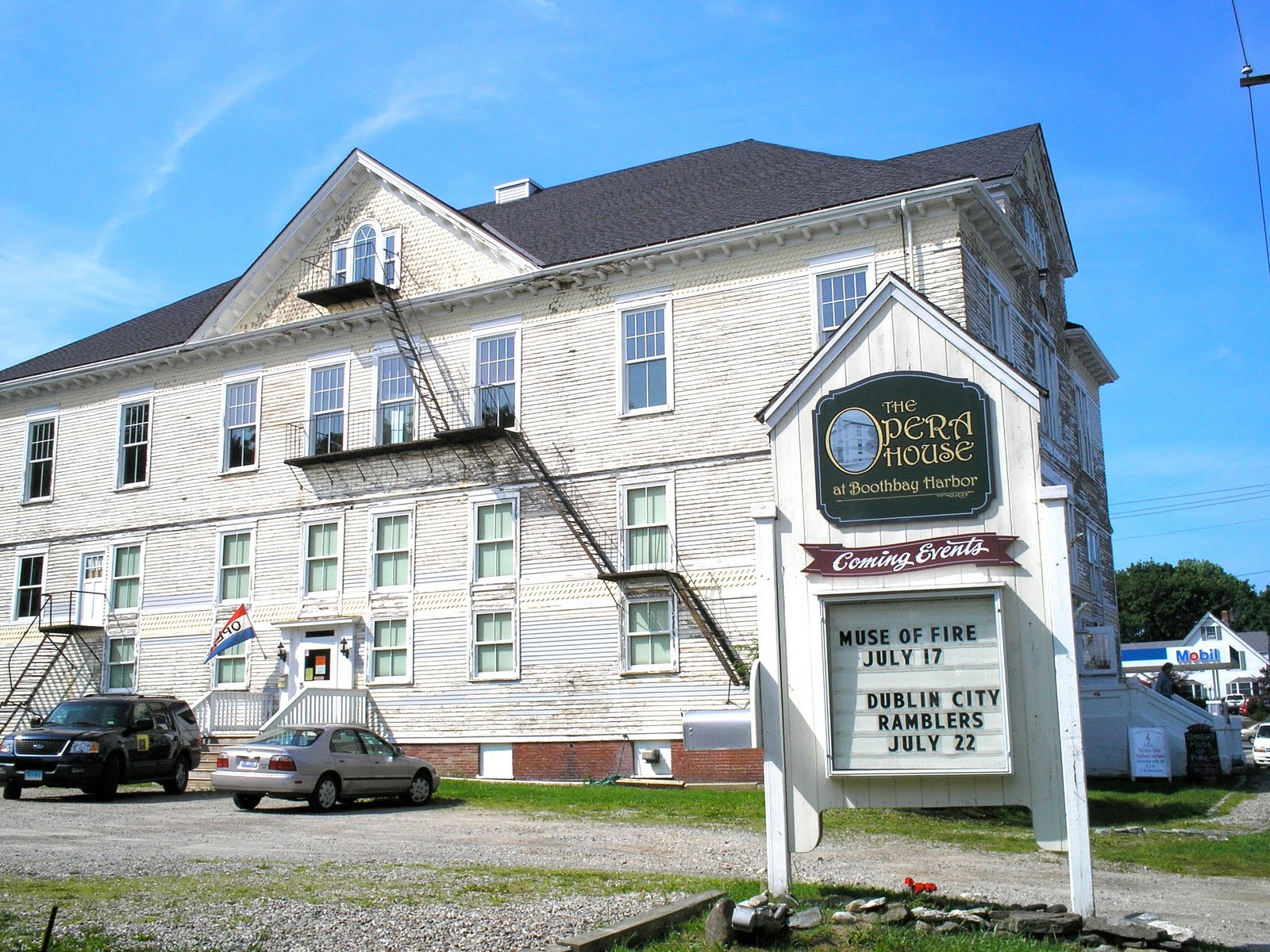 For generations the historic 1894 Opera House in Boothbay Harbor, Maine stage has played host to actors and musicians from around the state and around the globe.