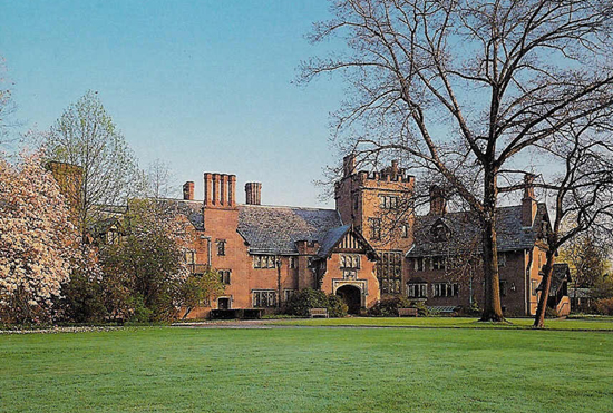 Stan Hywet Hall & Gardens (70 acres) is a notable country estate, with gardens, located at 714 North Portage Path in Akron, Ohio. It ranks twelfth on the list of largest houses in the United States.