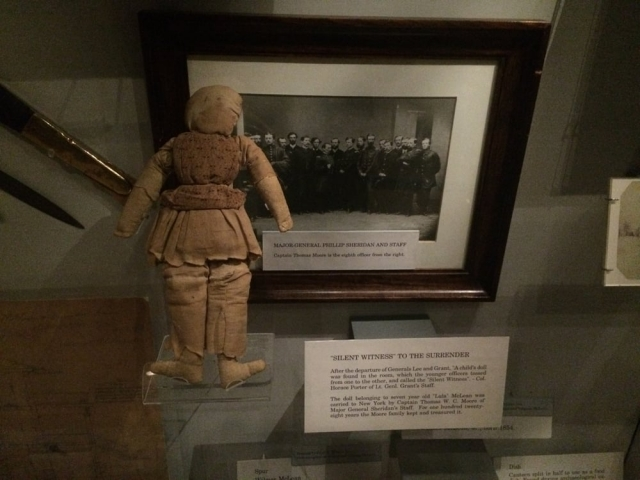 This child's toy was witness to the surrender of General Lee to General Grant at the McLean House located in the village of Appomattox Court House.