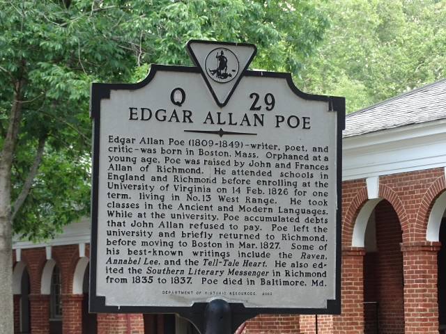 Edgar Allan Poe attended the University of Virginia for a short time.   These are photos of his former dorm room.