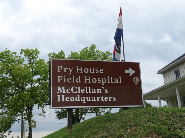 The Pry House was taken over by the Union Army during the battle of Antietam and served has head quarters for Major General George McClellan, then became a field hospital.   Now the house serves as a museum for the National Museum of Civil War Medicine.