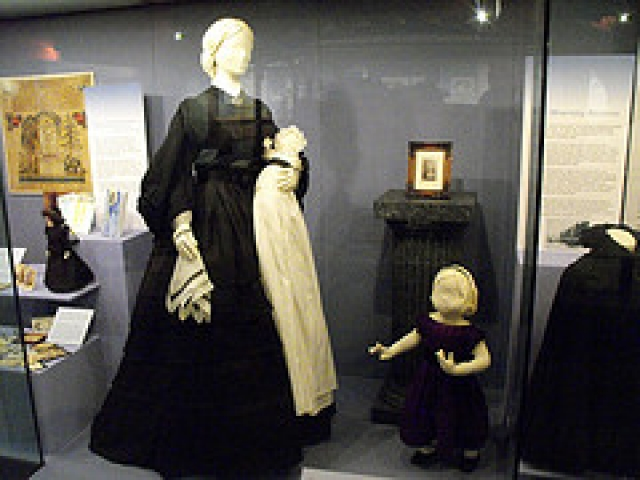 Victorians' fascination with death affected many aspects of everyday life, including dress. Fashion magazines advertised mourning versions of the latest styles while women in mourning followed very strict rules as to which types of dress were acceptable.