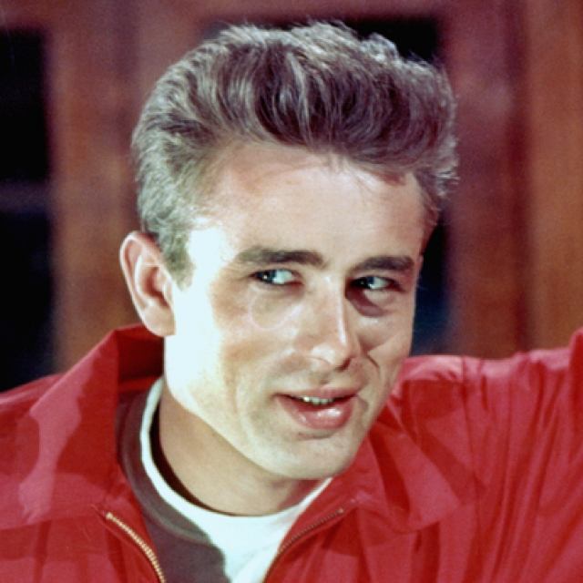 James Dean was born on February 8, 1931, in Marion, Indiana. He starred in the film adaptation of the John Steinbeck novel East of Eden, for which he received an Oscar nomination. His next starring role, in Rebel Without a Cause, made him into the embodiment of his generation. Shortly after completing work on the film Giant, Dean was killed in a car crash and quickly became an enduring film icon.