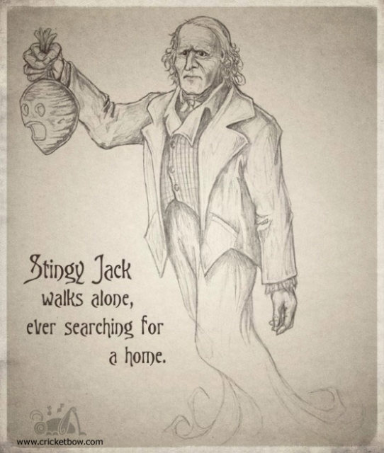 Stingy Jack was a miserable, old drunk who loved playing tricks on anyone and everyone. One dark, Halloween night, Jack ran into the Devil himself in a local public house. Jack tricked the Devil by offering his soul in exchange for one last drink. The Devil quickly turned himself into a sixpence to pay the bartender, but Jack immediately snatched the coin and deposited it into his pocket, next to a silver cross that he was carrying. Thus, the Devil could not change himself back and Jack refused to allow the Devil to go free until the Devil had promised not to claim Jack's soul for ten years.Find out more at: http://www.panicd.com/encyclopedia/jack-o-lanterns.html