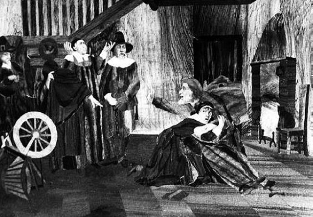 During the Salem witch trials, it was believed that if the witch would touch one of the afflicated that was having a fit, the affilicted would instantly calm down.