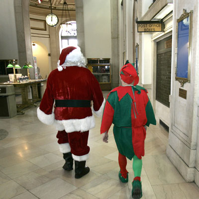Santa and and Elf