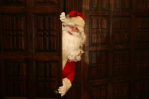 Santa at the bedroom door