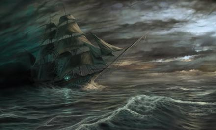The Lady Lovibond (sometimes spelled Luvibond) was a schooner that was wrecked on the Goodwin Sands, off the Kent coast of south-east England, on 13 February 1748, and is said to reappear there every fifty years as a ghost ship.