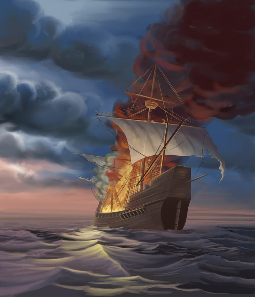 Unfortunately for them, the captain of the ship was a former pirate. While he had had taken the