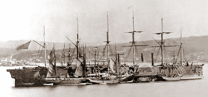 SS Great Eastern was an iron sailing steam ship designed by Isambard Kingdom Brunel, and built by J. Scott Russell & Co. at Millwall on the River Thames, London. She was by far the largest ship ever built at the time of her 1858 launch, and had the capacity to carry 4,000 passengers around the world without refueling.