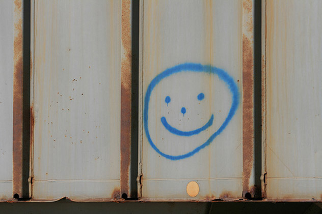 Smiley face graffiti has been found near the bodies of many drowning victims.