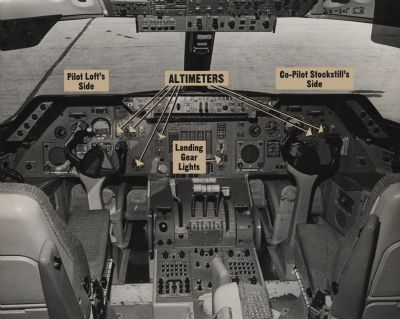 A photo showing the cockpit of a Lockheed L-1011