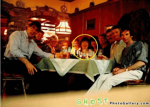 The Vacation Party Ghost is the reason why you should never be the last one at a party.  The  unknown apparition shows up in a photo of friends on vacation.