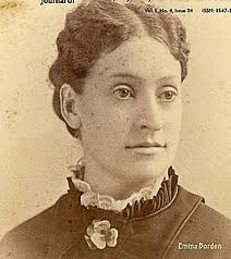 Emma Lenora Borden (1851-1927) was the older sister of Lizzie Andrew Borden, born to Andrew and Sarah Borden a decade before the Civil War.