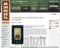 The Strange Case of William Mumler, Spirit Photographer � University of Minnesota Press