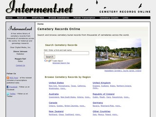 Cemetery Records Online - Search Cemeteries