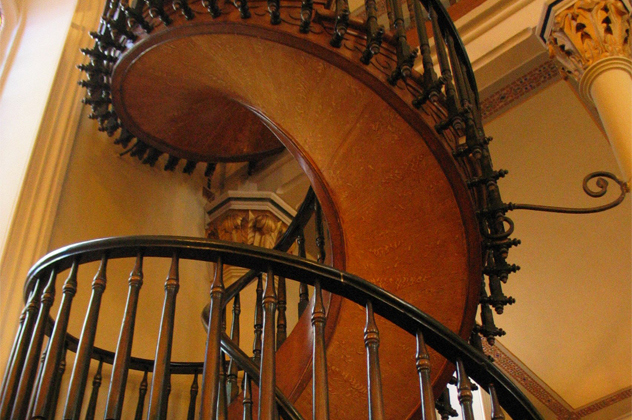 The mysterious carpenters of the Loretto Chapel Staircase.